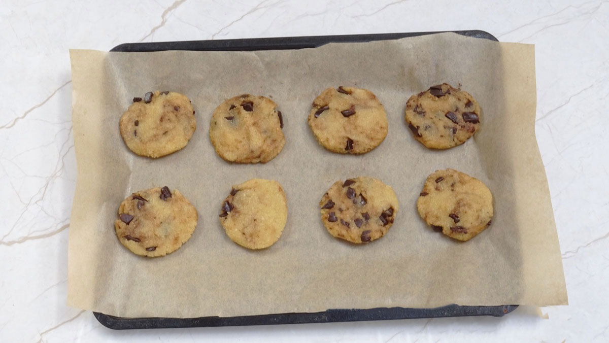cookies on a tray
