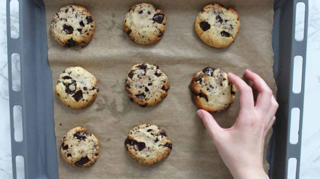 Baked Cookies On Tray