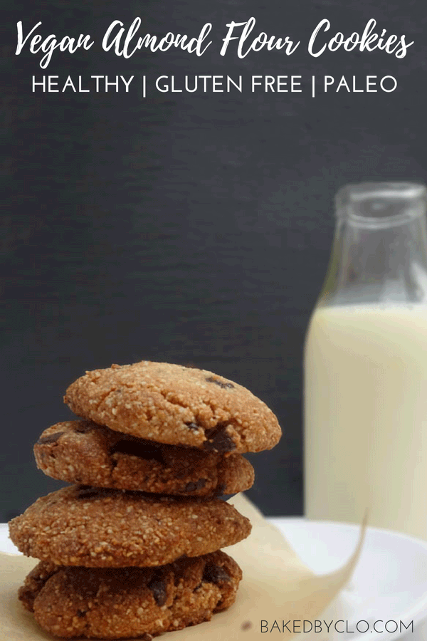 Vegan almond flour cookies that are healthy and easy! #healthy #cookie #vegan #recipe