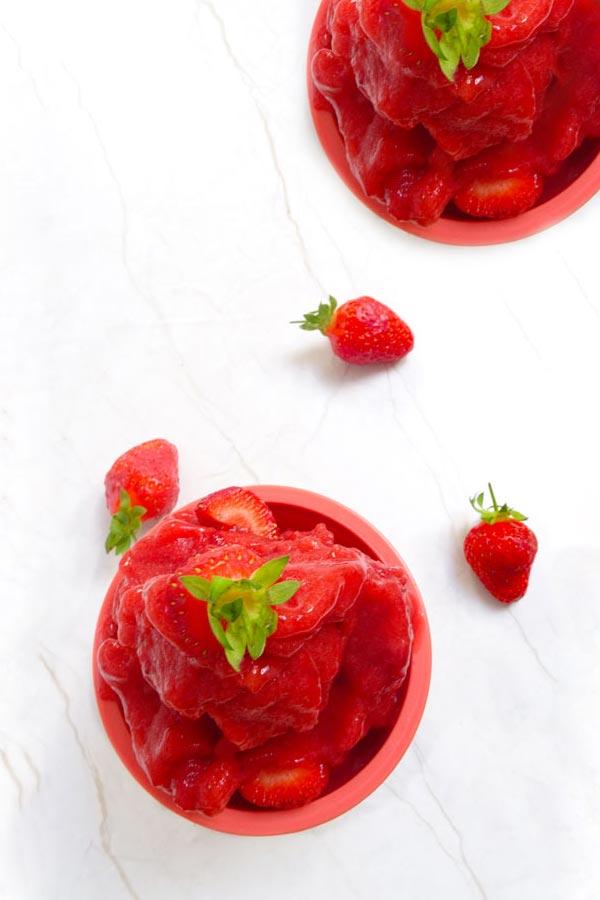 vegan strawberry sorbet recipe