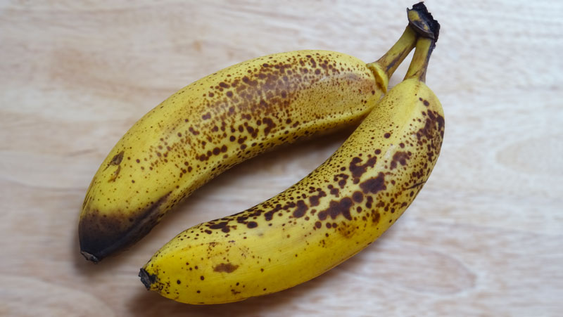 spotty brown bananas