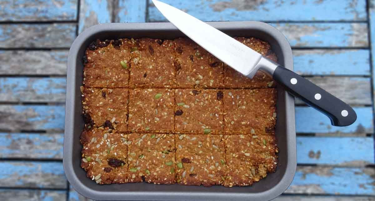 fruit and nut vegan flapjacks