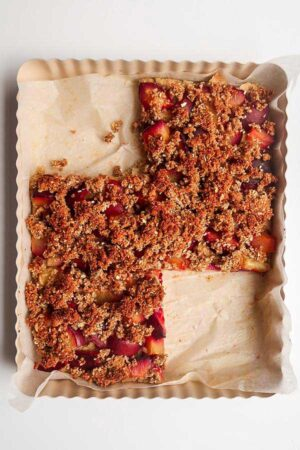 Vegan Plum Streusel Cake