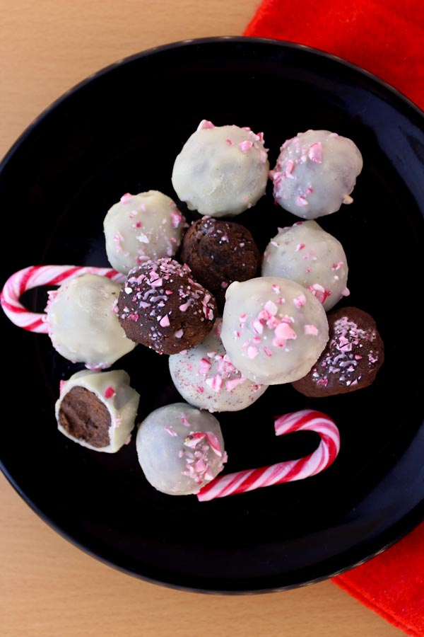 Vegan candy cane truffles recipe