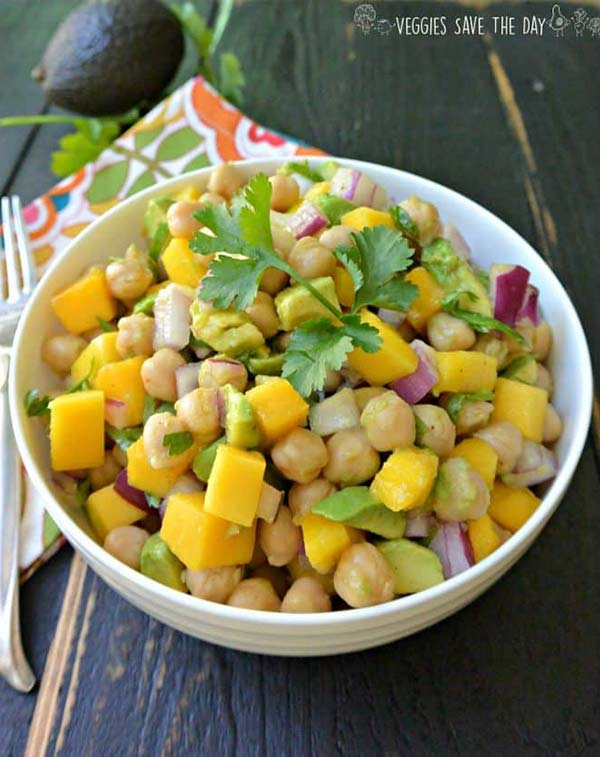 Bowl of chickpea salad