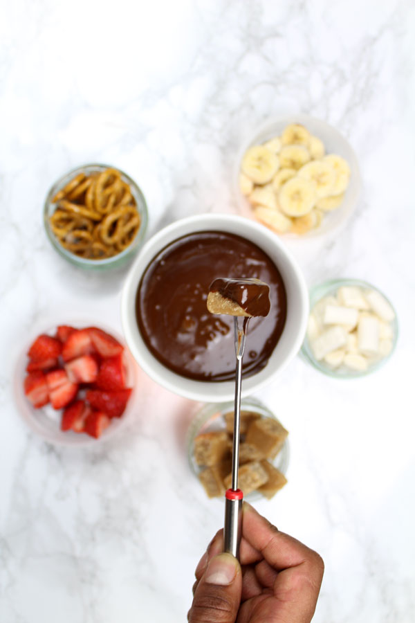 Chocolate fondue dipping ideas
