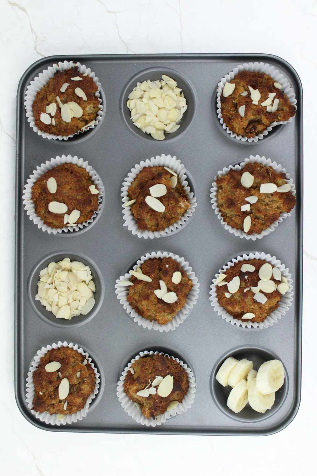 vegan almond flour and banana muffins