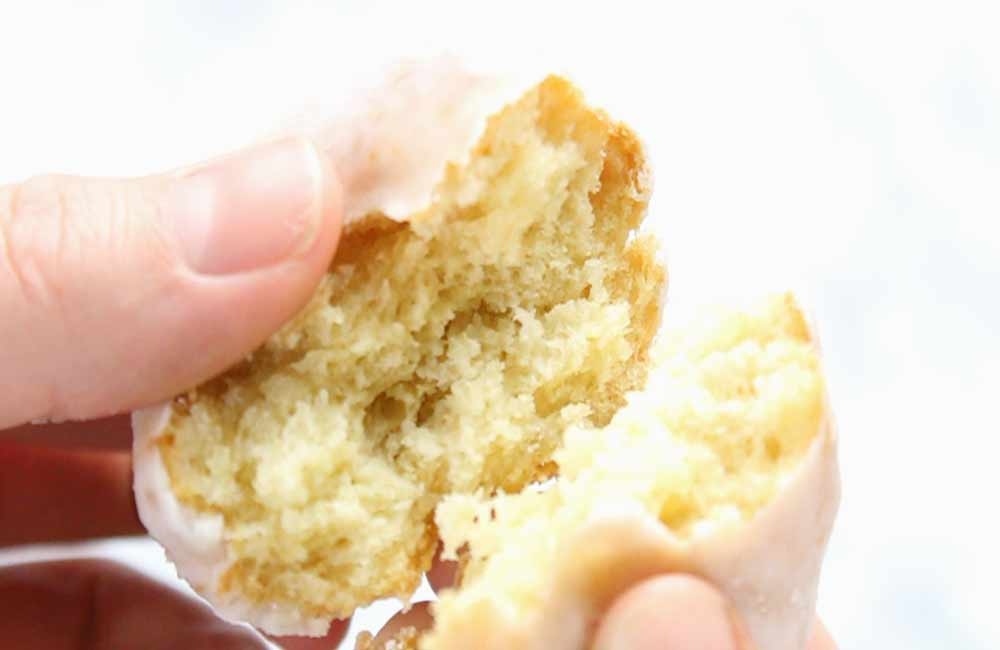 center of fried donut