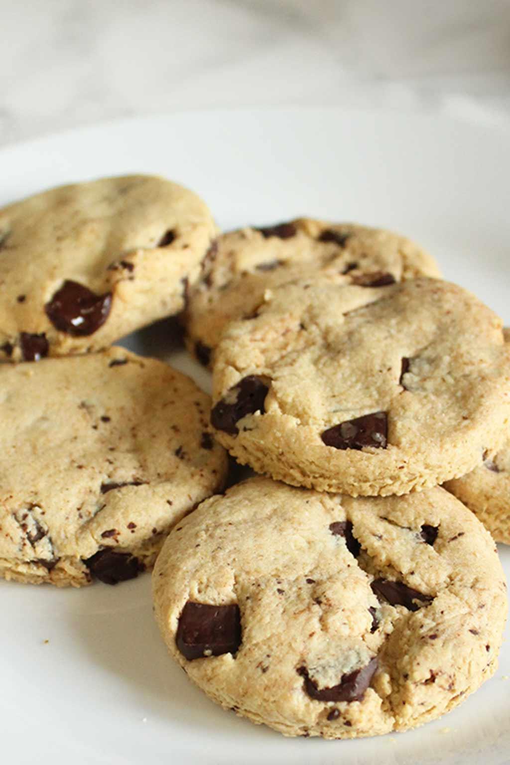 Vegan shortbread cookies on plate