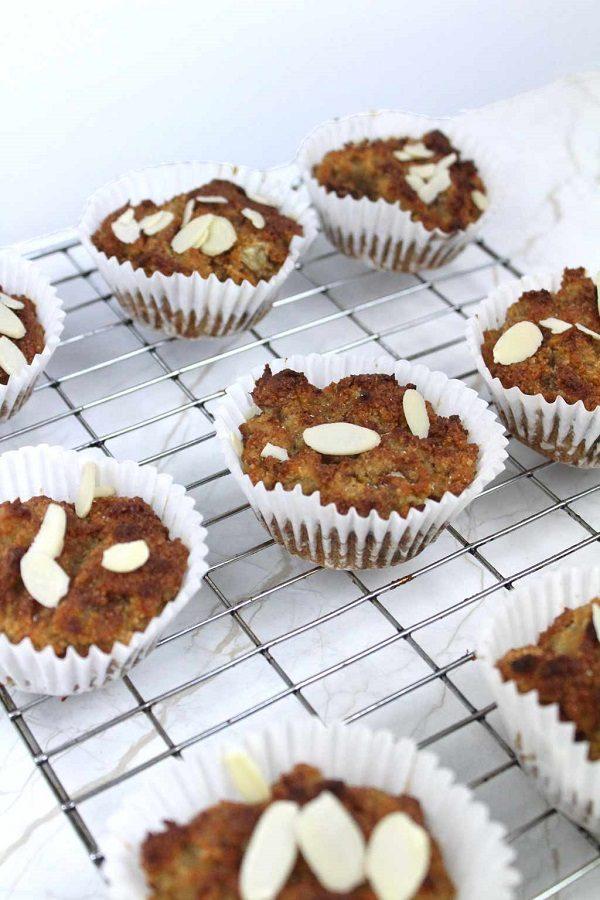 vegan almond flour banana muffins
