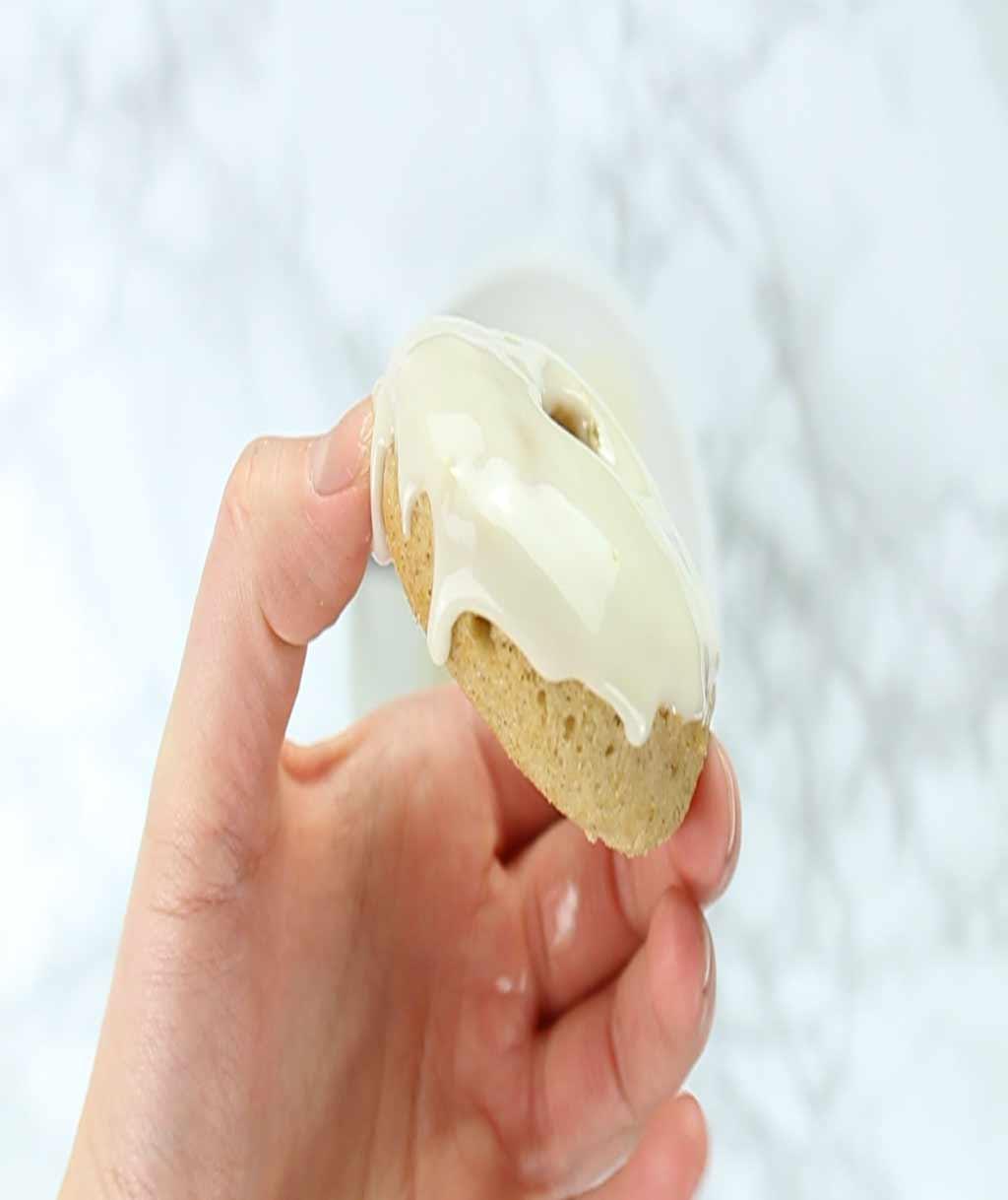vegan vanilla donut