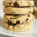 Vegan chocolate chunk shortbread cookies