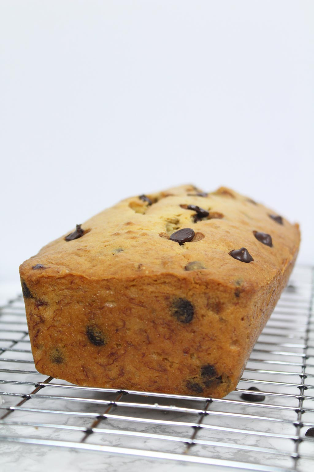 vegan choc chip banana loaf