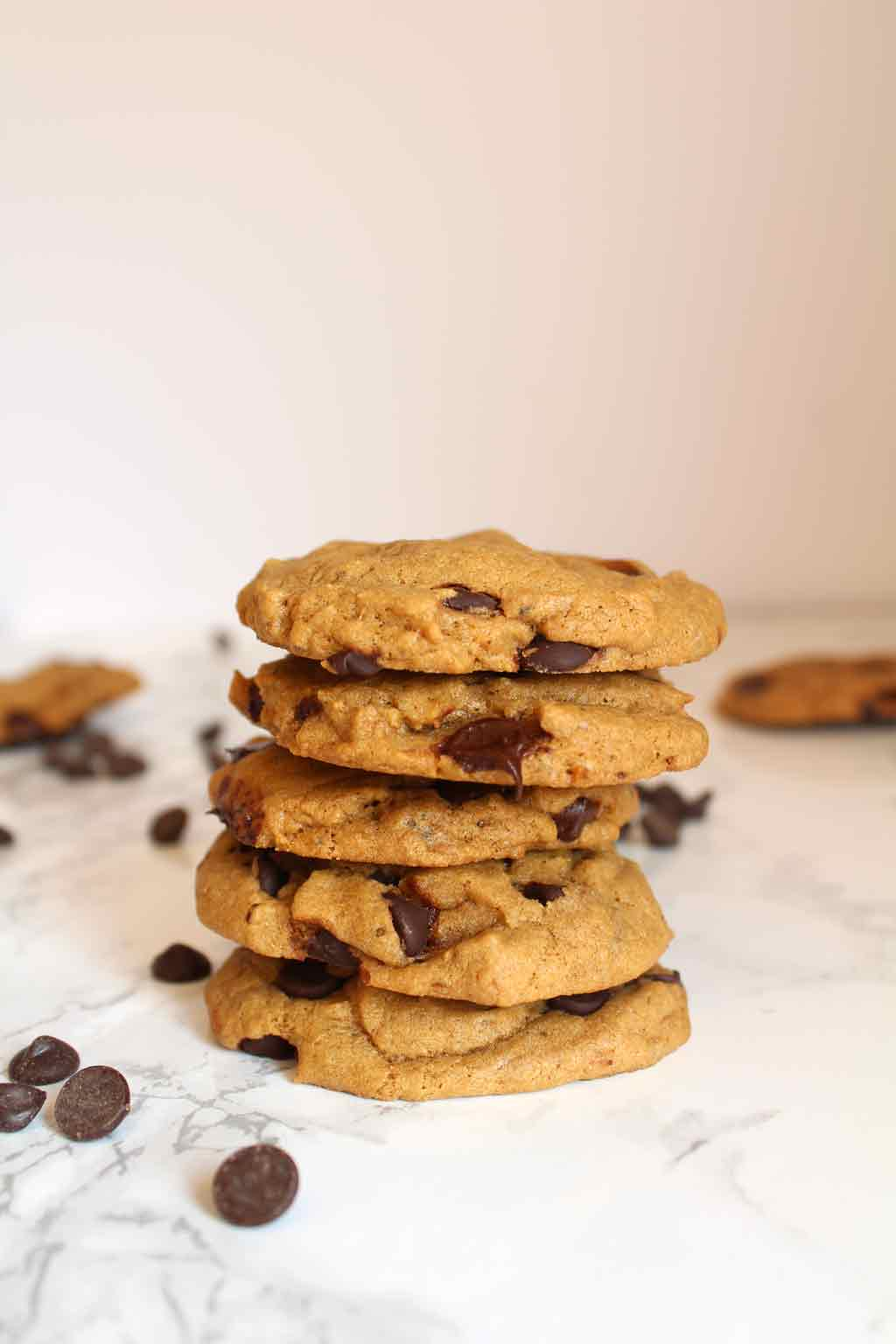 stack of vegan cookies