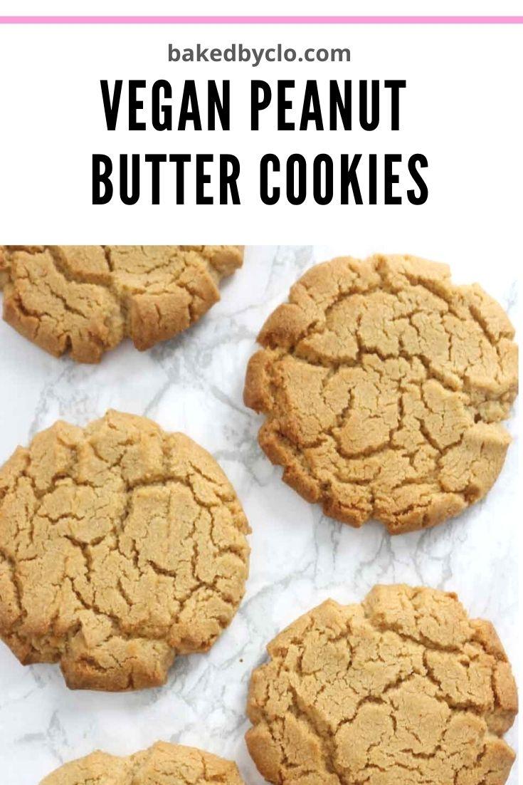 Pinterest pin- vegan peanut butter cookies