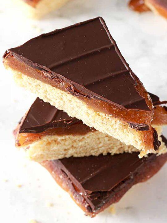 thumbnail image of millionaire shortbread slices