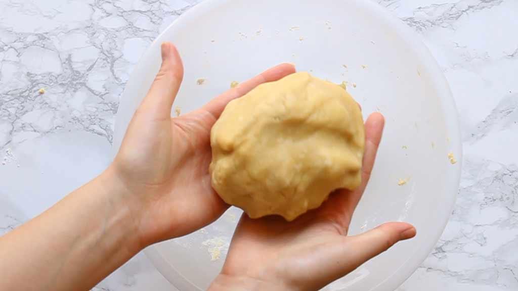vegan millionaire shortbread dough