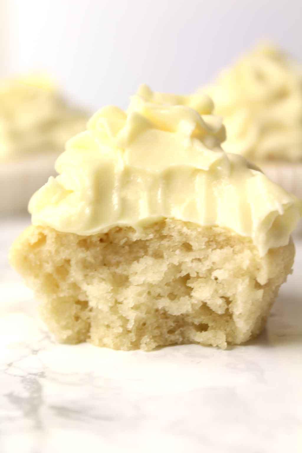 Inside Of Vegan Vanilla Cupcake