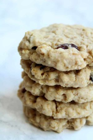 thumbnail for vegan oatmeal raisin cookies