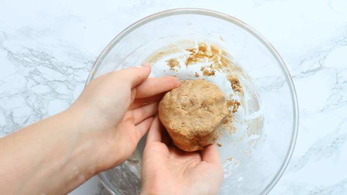 a ball of peanut butter filling