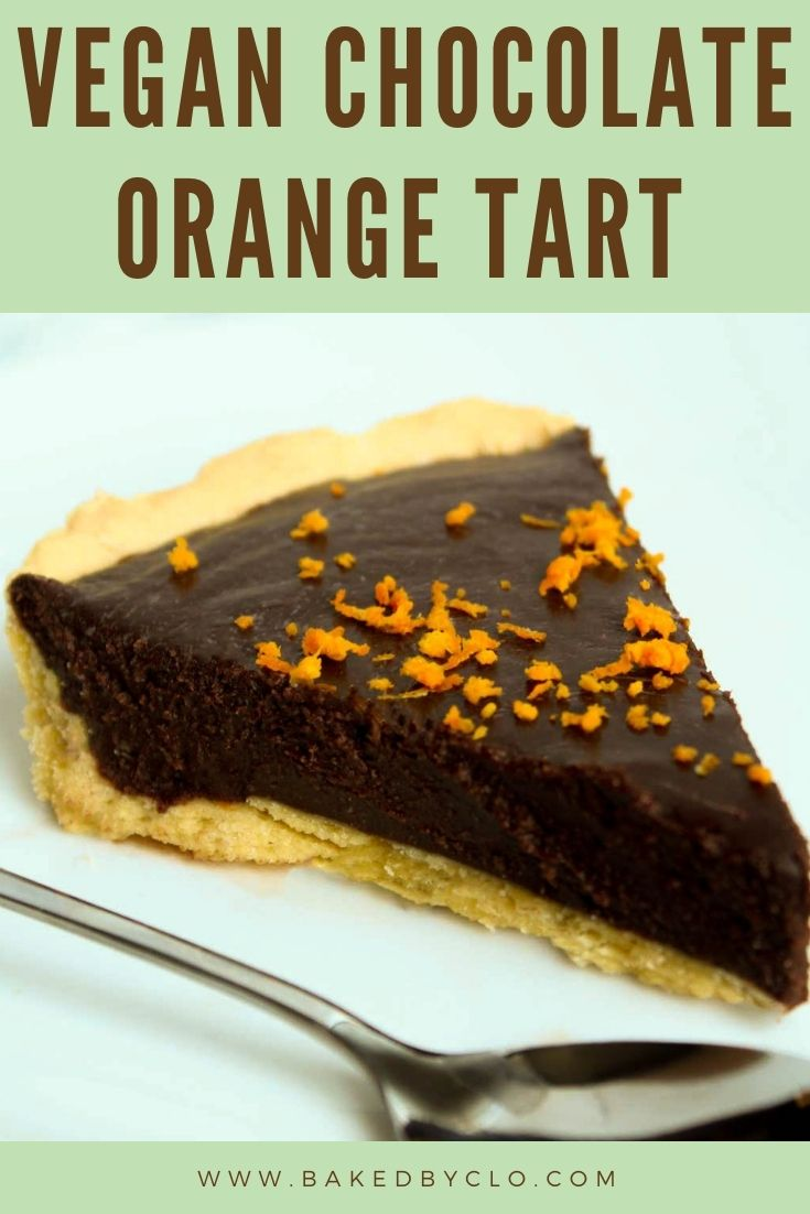 Pinterest image of chocolate tart