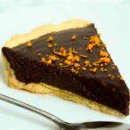 Slice Of Vegan Chocolate Orange Tart
