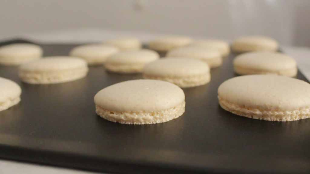 Baked Macarons On The Tray