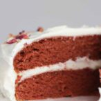 Red Velvet Cake With A Slice Cut Out