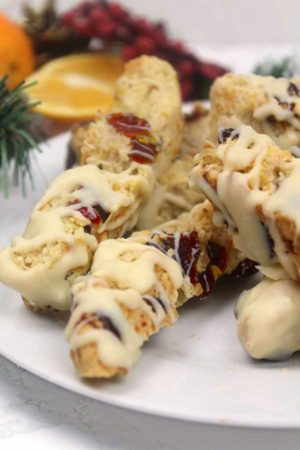 thumbnail vegan orange cranberry biscotti