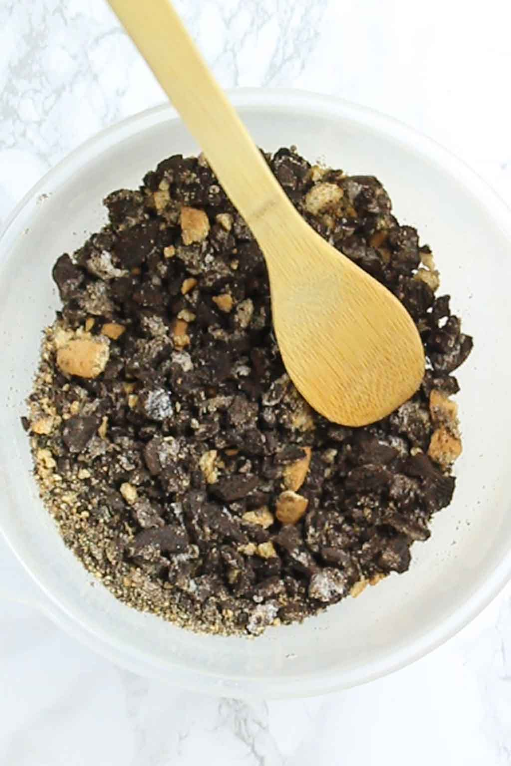 Crushed Cookies In A Bowl