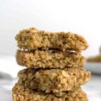 stack of 4 vegan flapjacks