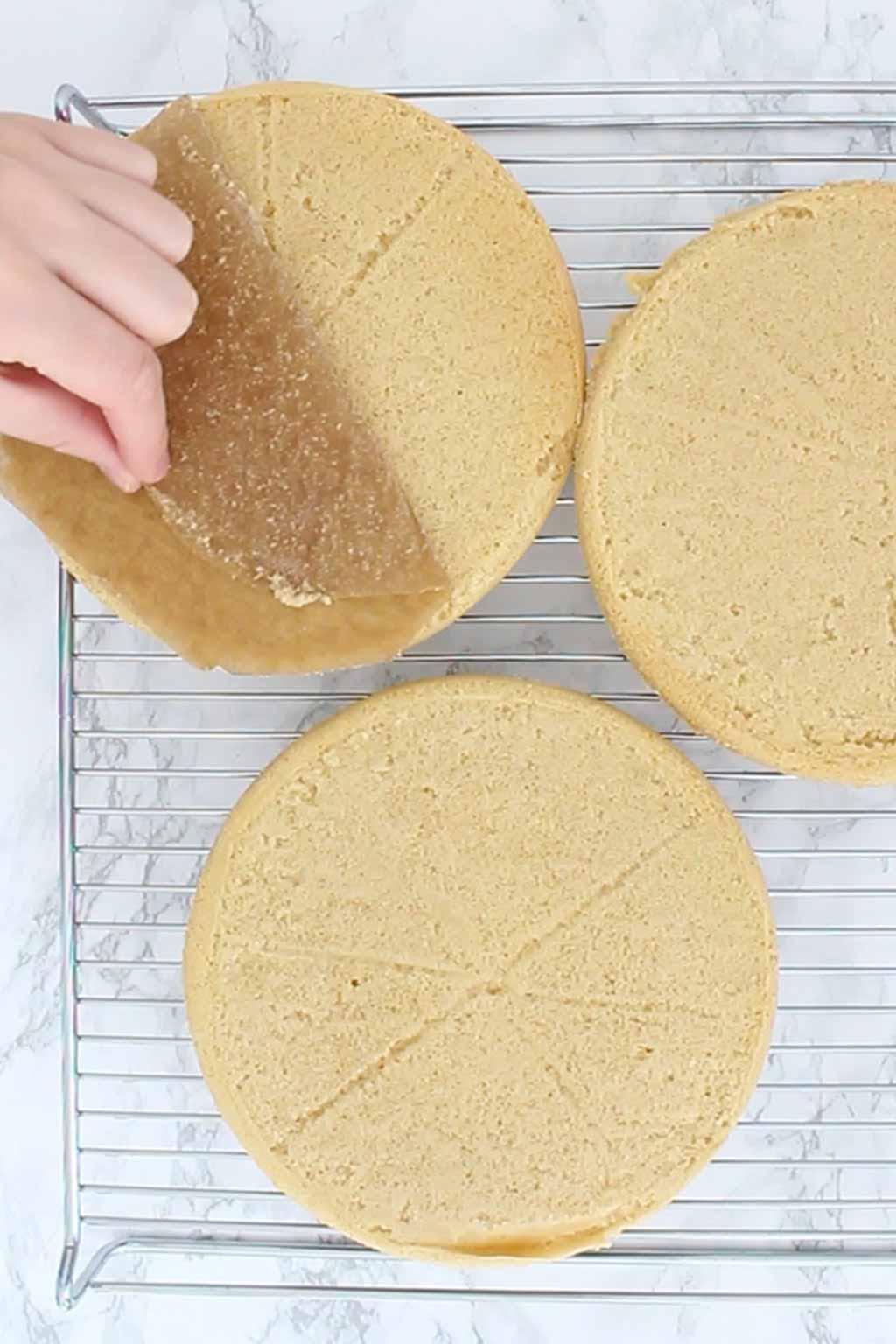 Peeling Baking Paper Off Of Cake