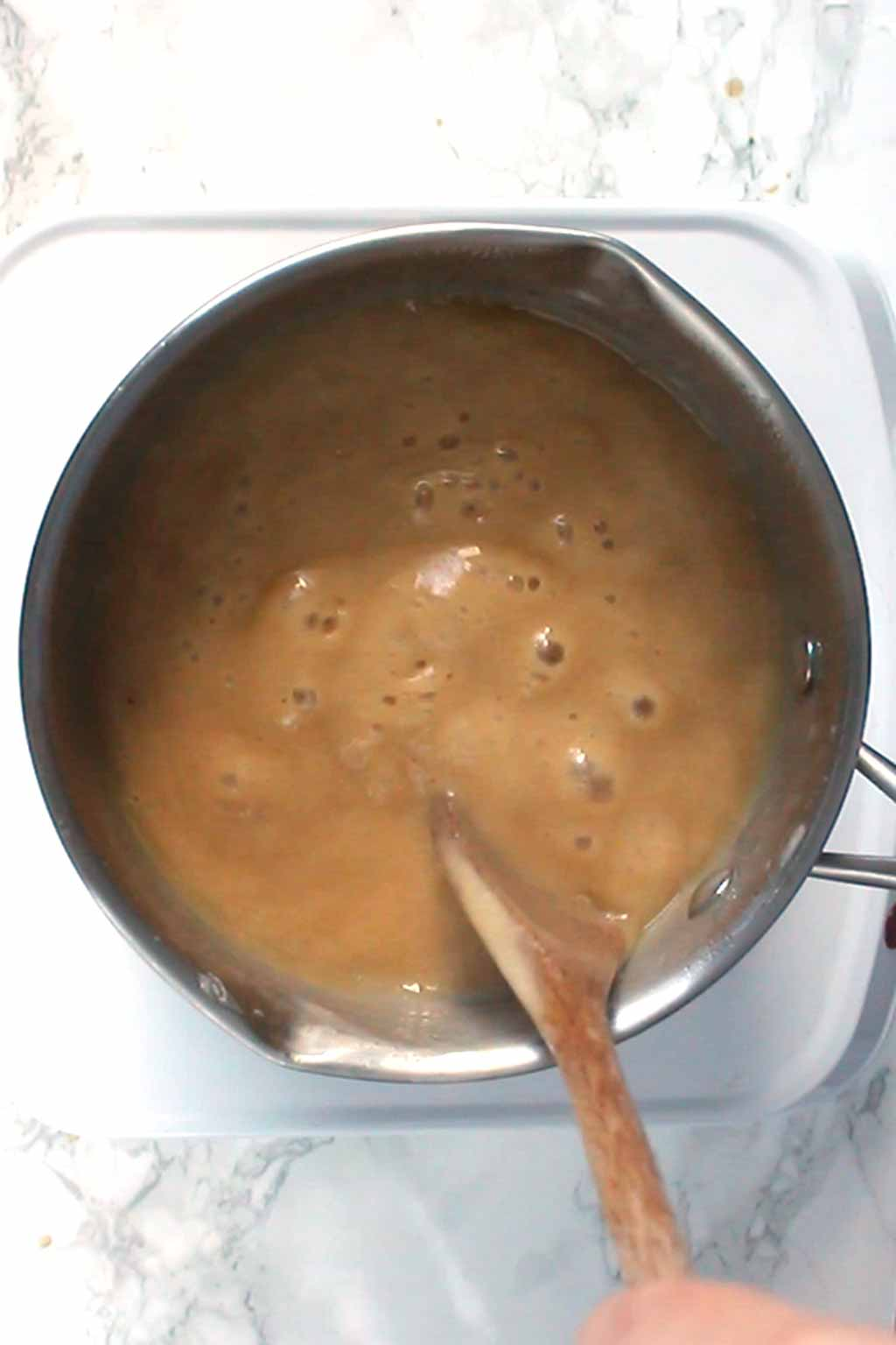 Caramel Bubbling on the stove