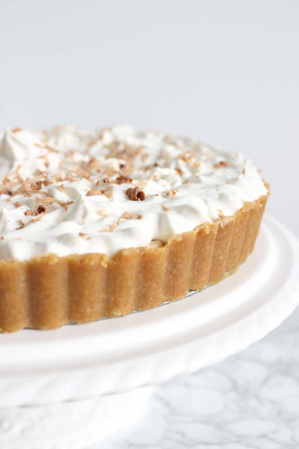 Best vegan desserts- Close Up of Banoffee Pie