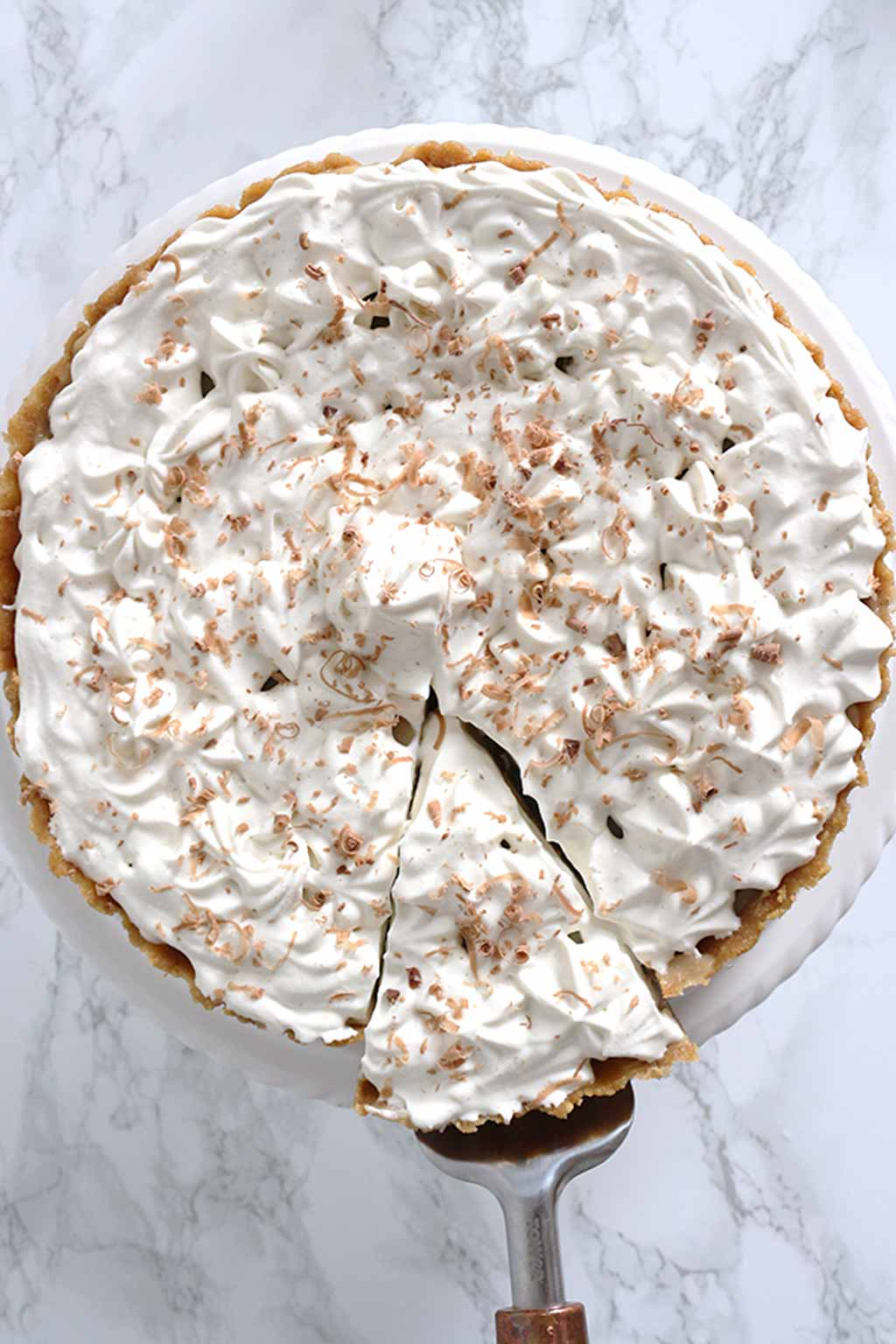 Overhead Shot Of Banoffee Pie