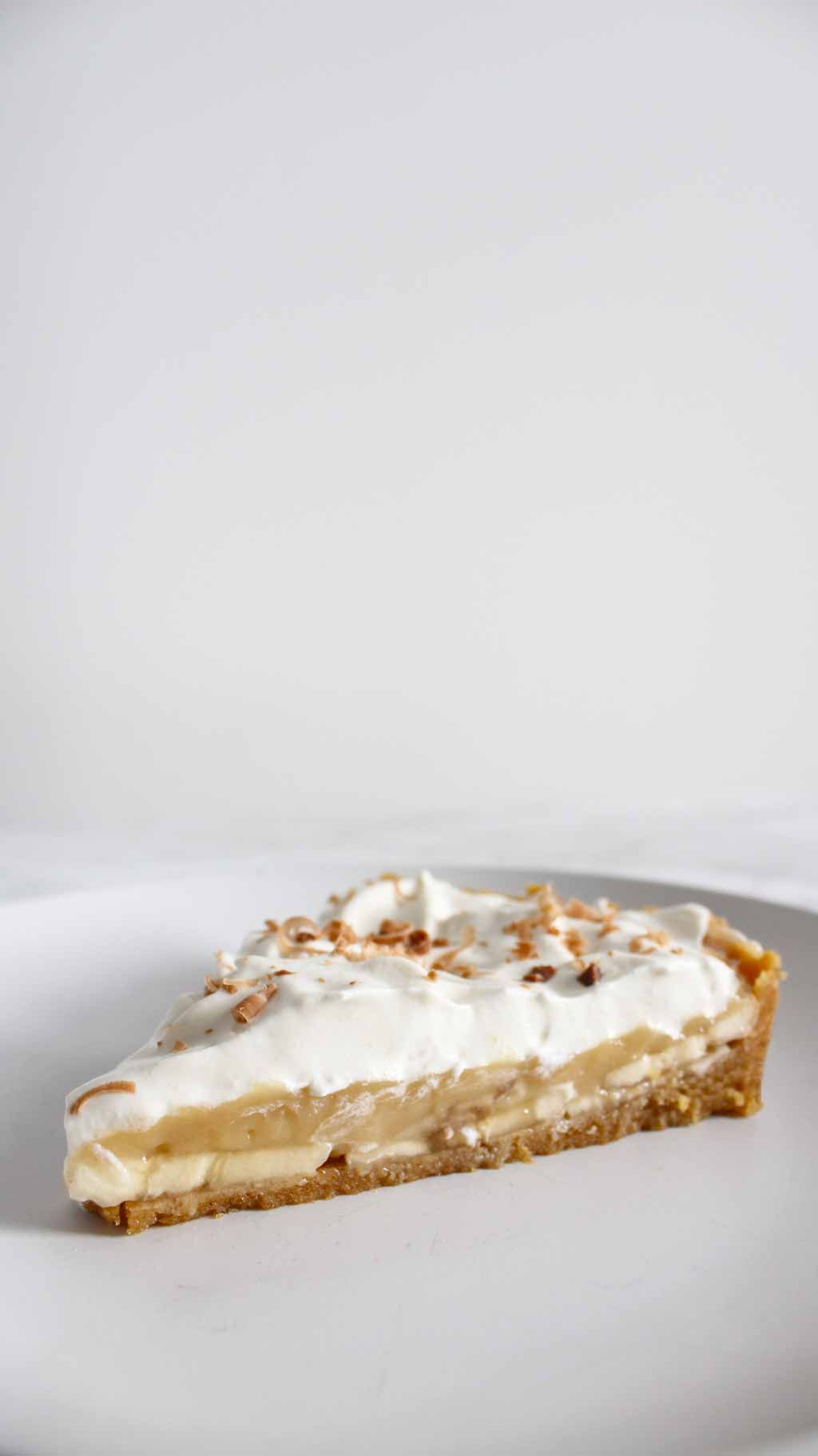 Slice Of Banoffee Pie On A Plate