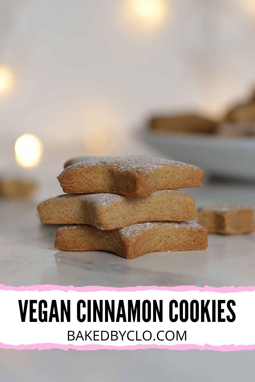 Vegan Cinnamon Cookies Pinterest pin