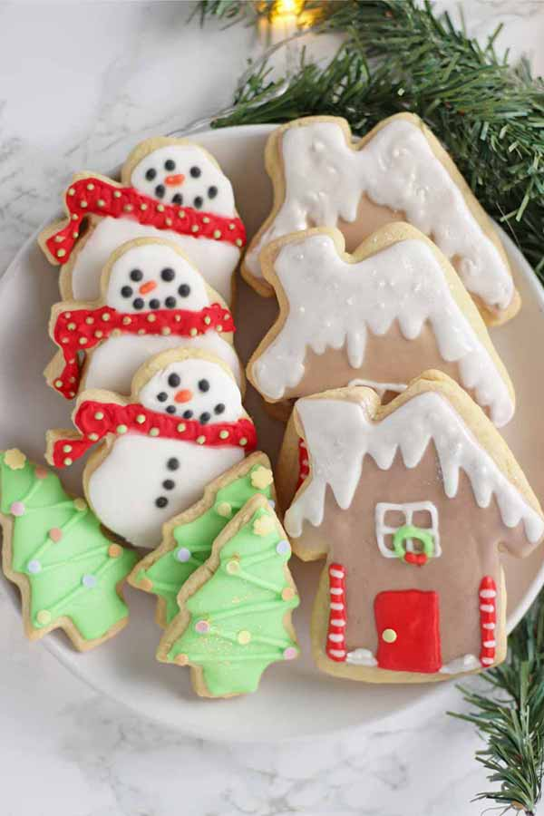 sugar cookies on a plate