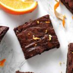 Thumbnail Overhead Shot Of Vegan Chocolate Orange Brownies