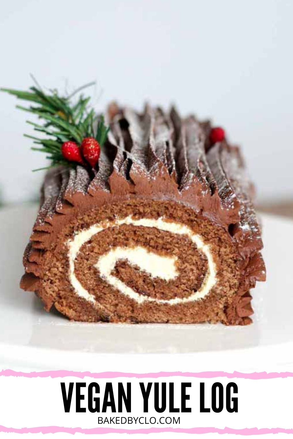 Pinterest pin of yule log