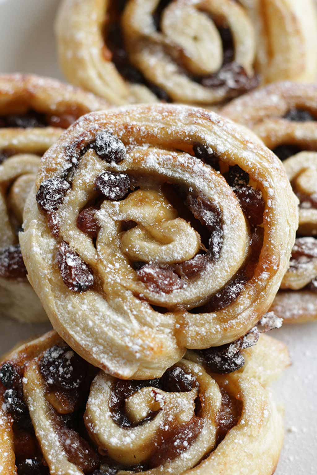 Close Up Of Puff Pastry Mincemeat Roll