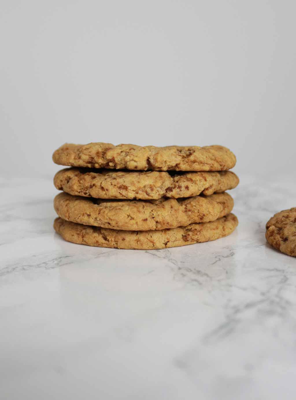 Stack Of 4 vegan ginger Cookies