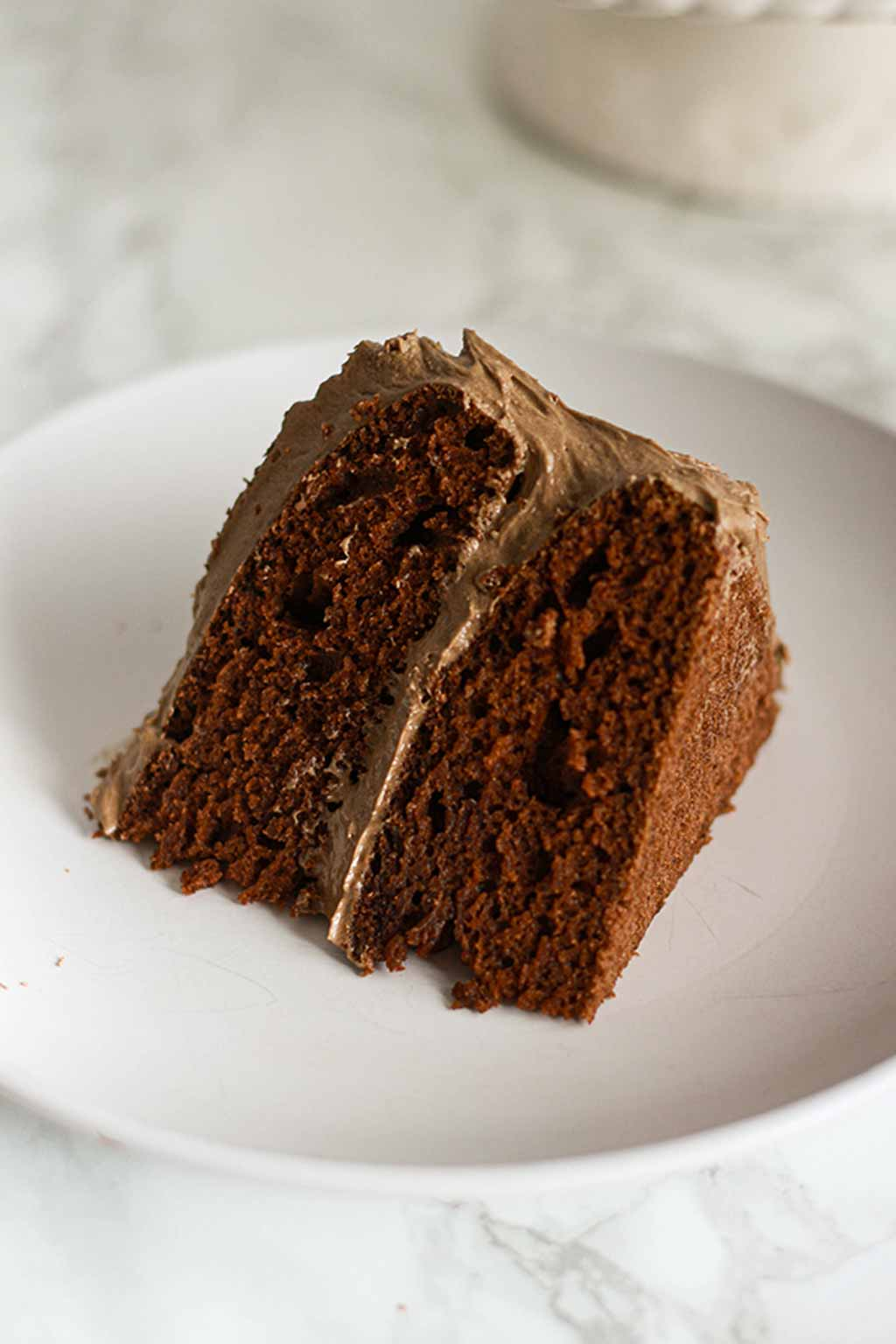 Slice Of Chocolate Fudge Cake On A Plate