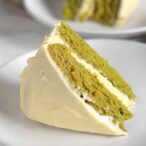 Thumbnail image of slice of cake on a white plate