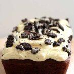 Vegan Oreo loaf cake