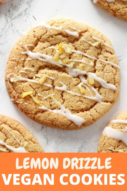 Pinterest pin for lemon cookies