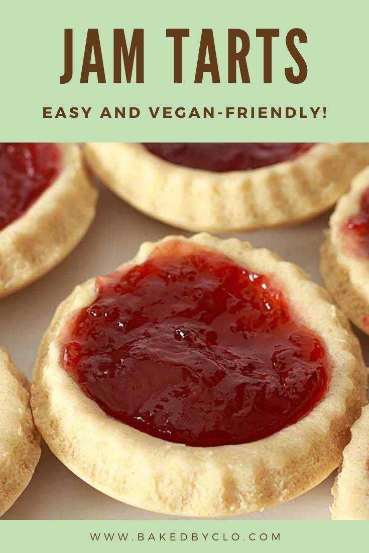 Pinterest pin for jam tarts