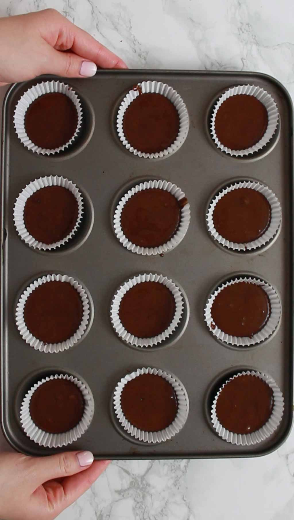 Cake Mix In Tin Before Baking