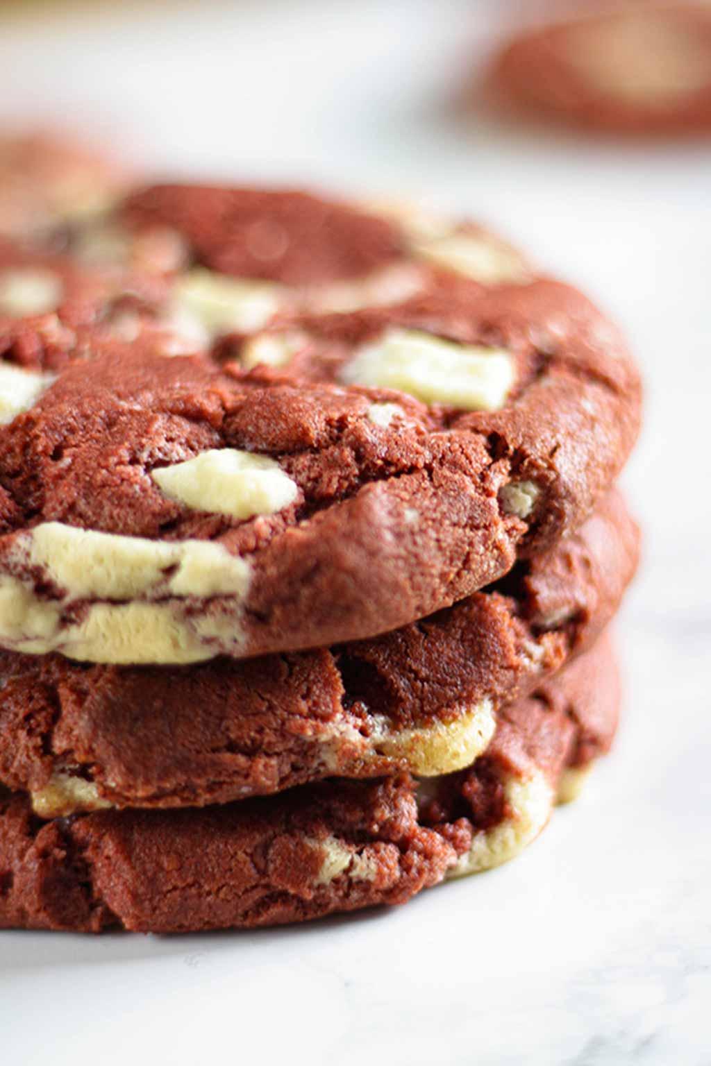 Stack Of 3 red velvet Cookies