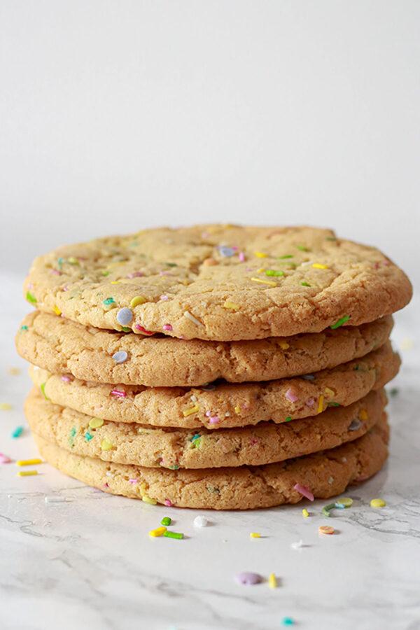 Stack Of 4 Funfetti Birthday Cake Cookies